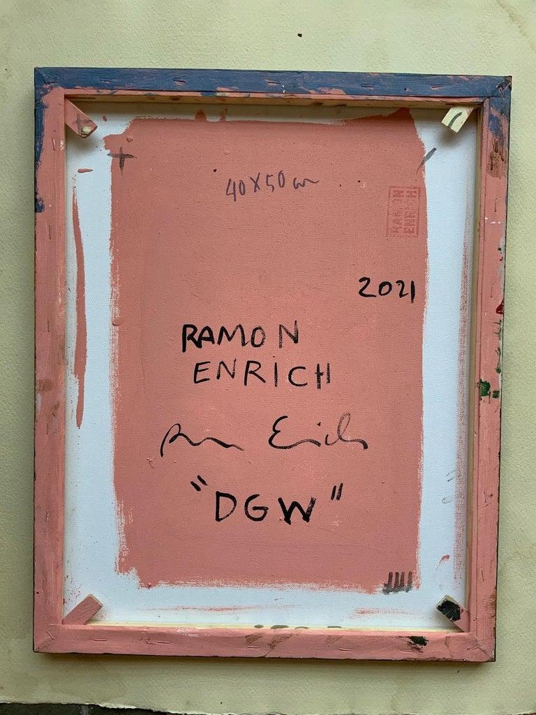 DGW by Ramon Enrich - Contemporary Geometric Landscape Painting For Sale 2