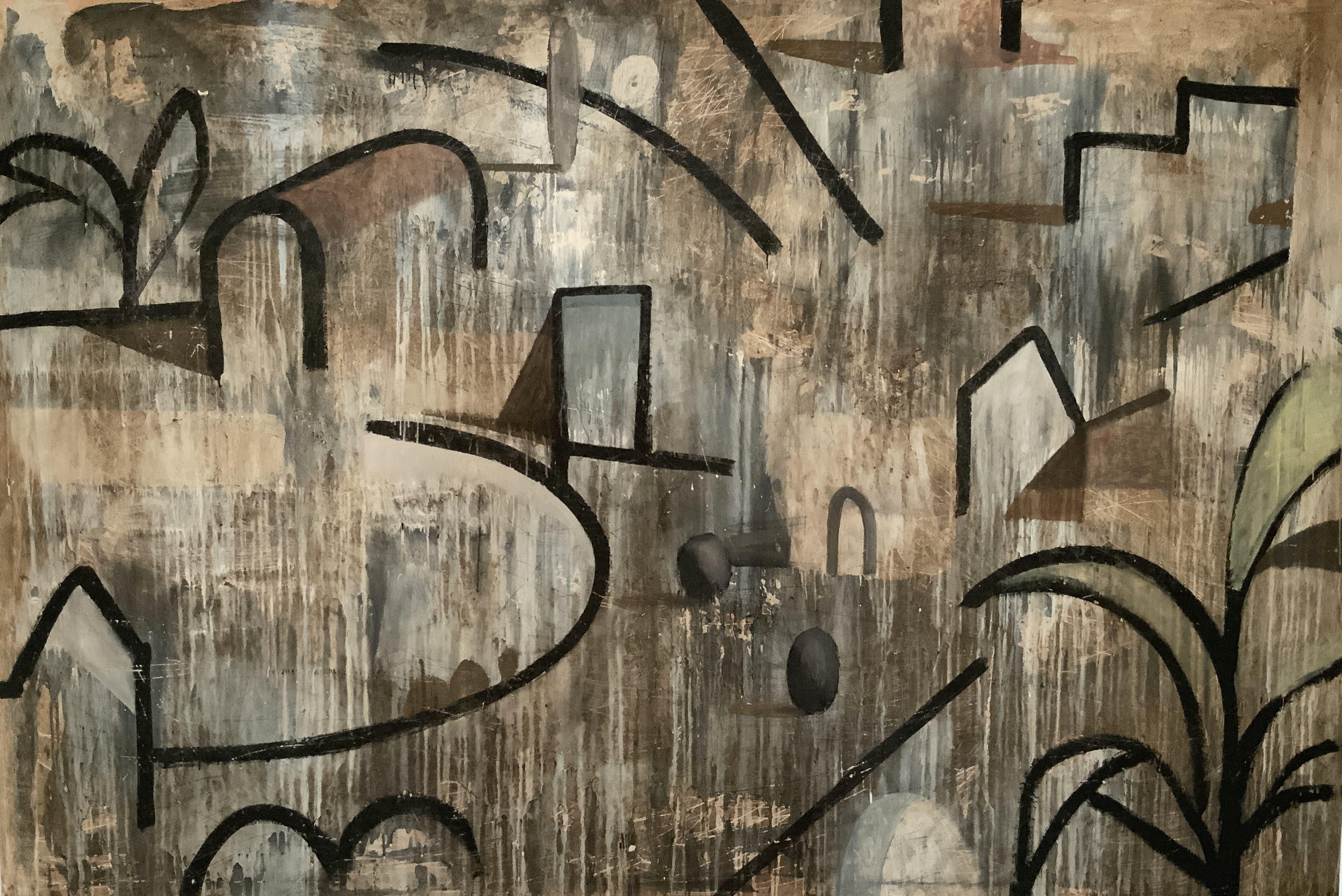 GRAN ESBOS - Contemporary Geometric Landscape painting, large size