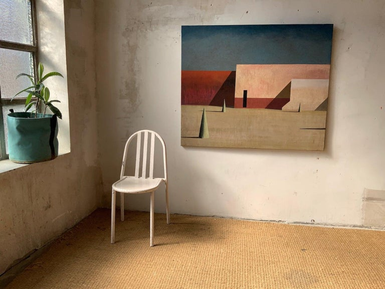 JANO - Contemporary Geometric Landscape painting - Painting by Ramon Enrich