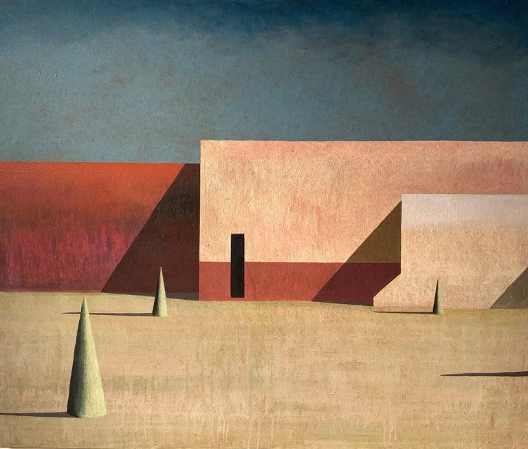 Ramon Enrich Figurative Painting - JANO - Contemporary Geometric Landscape painting
