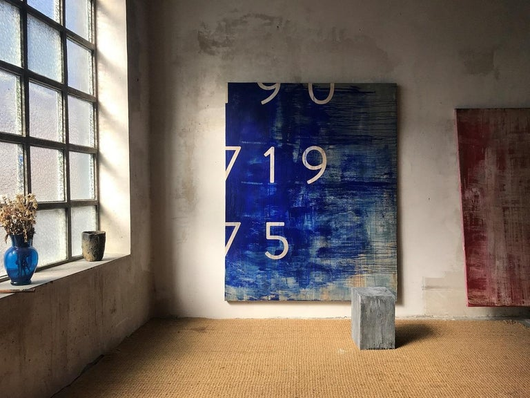 MO-B, Typography series (large-scale painting) - Painting by Ramon Enrich