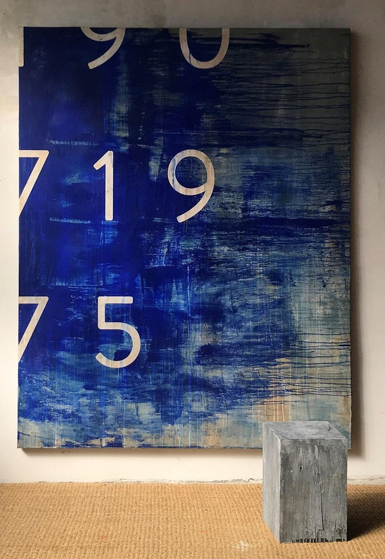 Ramon Enrich Abstract Painting - MO-B, Typography series (large-scale painting)