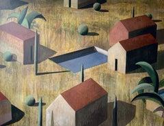 NOE GRAN by Ramon Enrich - Large Geometric Landscape Painting