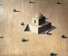 PAISATGE BLANC by Ramon Enrich - Contemporary Geometric Landscape Painting