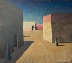 TEAT GRAN by Ramon Enrich - Contemporary Geometric Landscape Painting