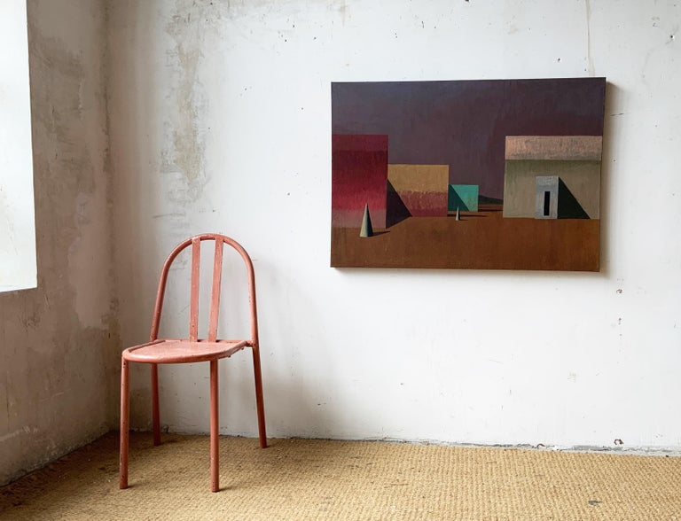 TOL by Ramon Enrich - Contemporary Geometric Landscape painting For Sale 1