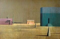 TRESGRA by Ramon Enrich - Contemporary Geometric Landscape painting