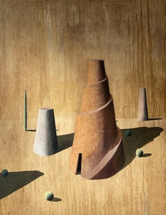 TURM 9 by Ramon Enrich - Contemporary Geometric Landscape painting