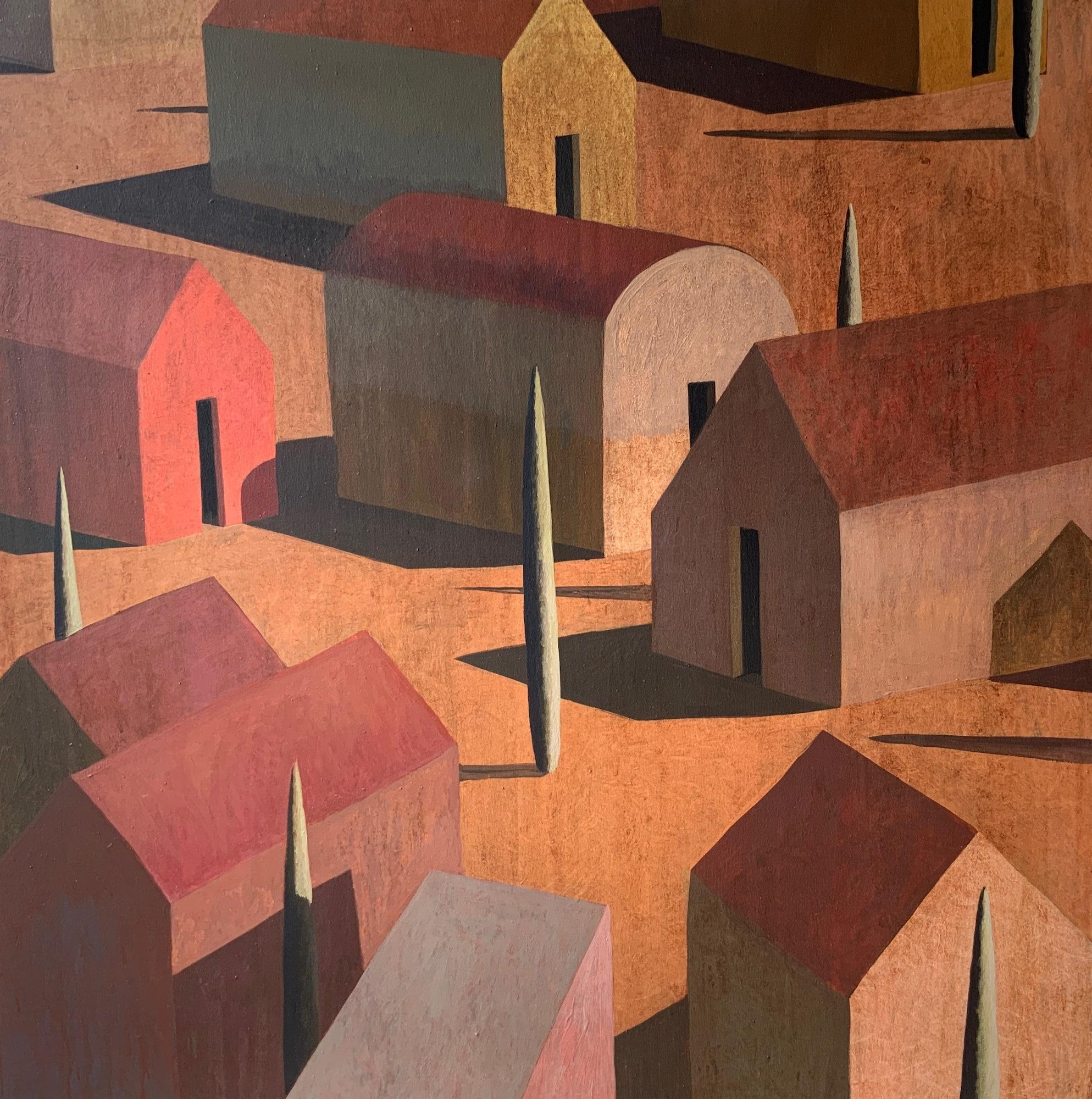 UNUN - Contemporary Geometric Landscape painting