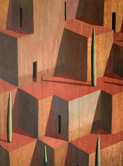 VE - Contemporary Geometric Landscape painting