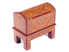 Caja Otoño / Wood carving Lacquer Mexican Folk Art