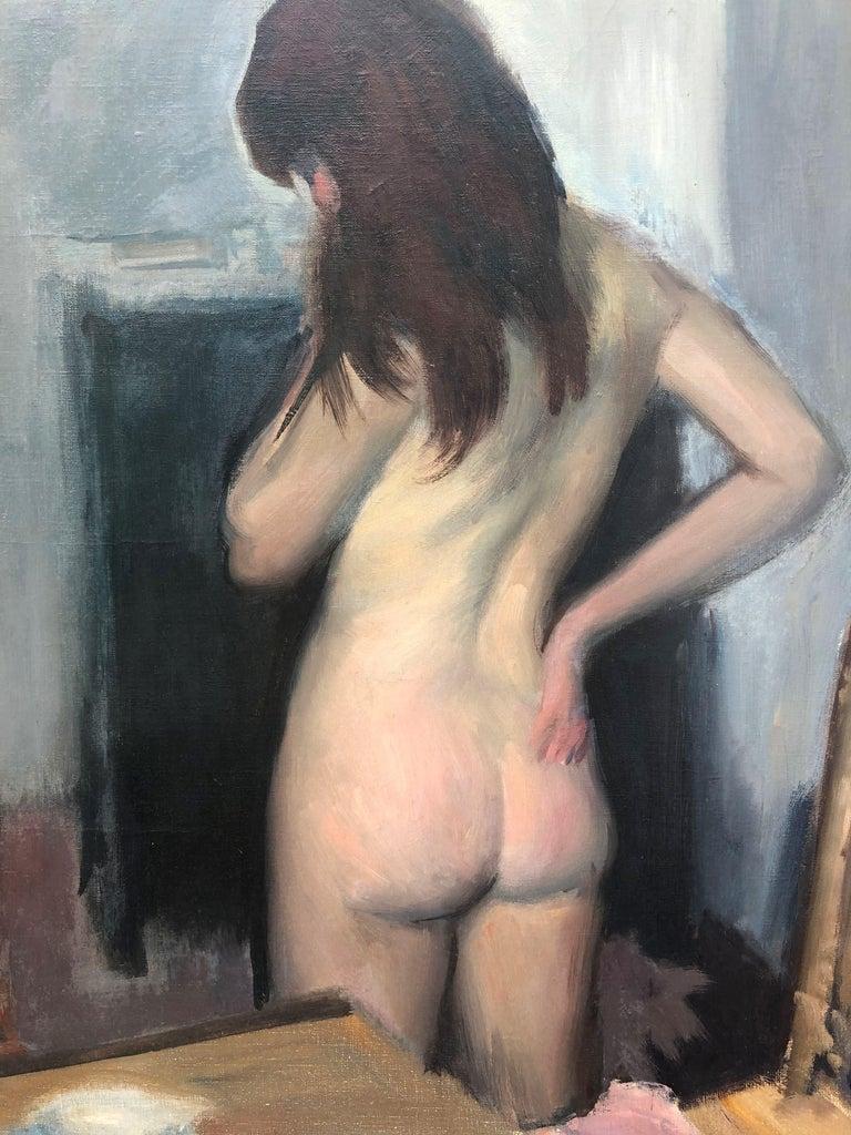 Ramón Pichot female nude original oil painting canvas c.1960 5