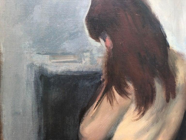 Ramón Pichot female nude original oil painting canvas c.1960 2