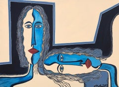 29.-Two Women   acrylic painting