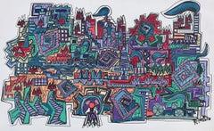 39 Factory 10.  original acrylic painting