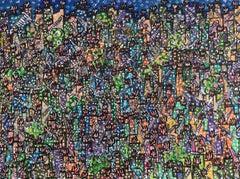 48 Grande Favela   acrylic painting