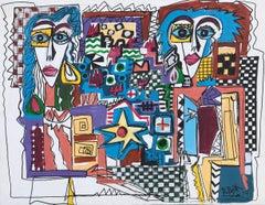 51.-The Kondos  original acrylic painting