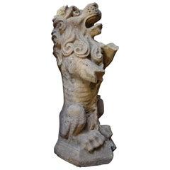 Rampant Lion Statue