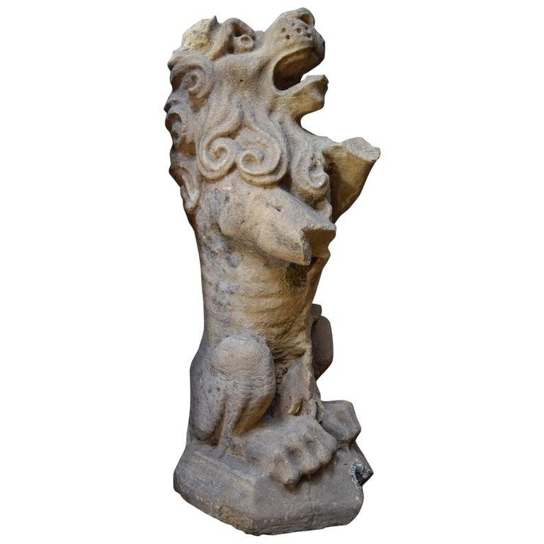 Rampant Lion Statue For Sale
