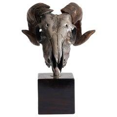Ram's Skull Silver Plated