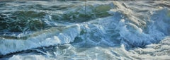 Pushing Back by Ramsay Gibb. Oil painting. Seascape.