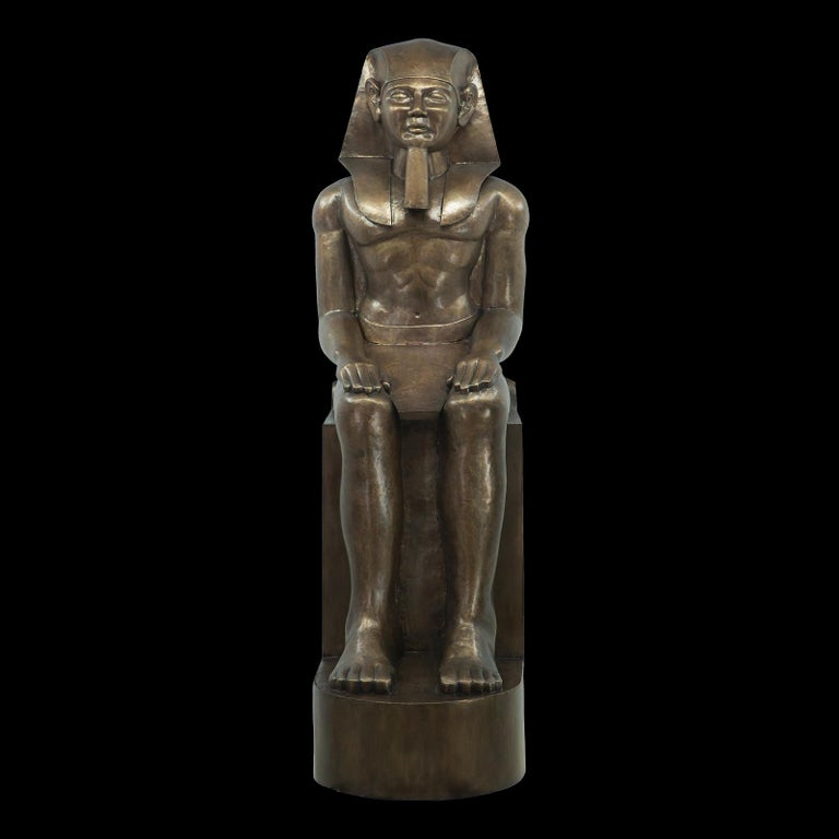 Hand-Carved Ramses II Sculpture For Sale