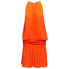Ramy Brook Orange Sleeveless Drop Waist Dress