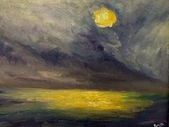 Night sky over Carmel, Painting, Oil on Canvas