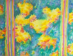 """""""Flower Variation"""" Oil on canvas Painting 58"""" x 79"""" inch by Ramzi Mostafa"""