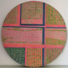 """""""Squares in a Circle"""" Oil on canvas Painting 47"""" x 47"""" inch by Ramzi Mostafa"""