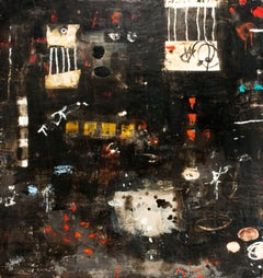 """""""Untitled L343"""" Large Original Encaustic Painting on Panel by Rana Rochat"""