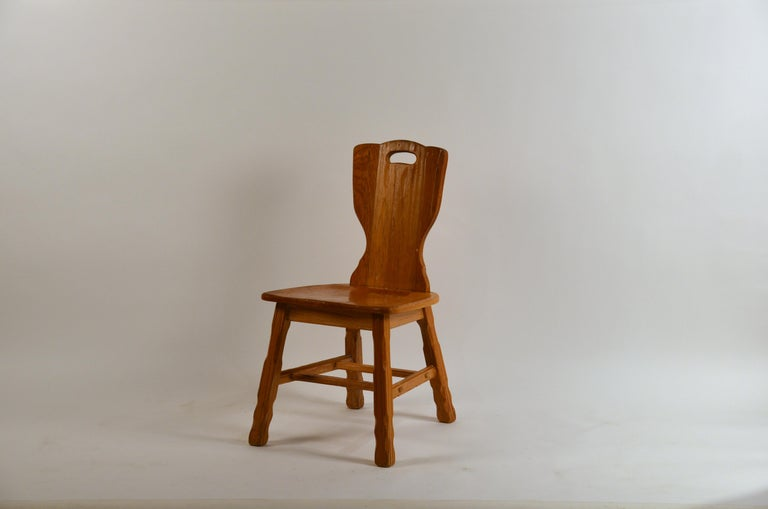 Ranch oak side chair by A. Brandt Co.  Model No. 1881  Original tag under the seat  A. Brandt Ranch Oak Furniture was made for nearly fifty years in Fort Worth, Texas and has been out-of-production for more than two decades. A. Brandt Company,