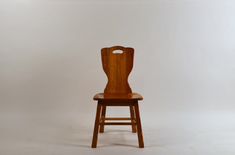 Rustic Ranch Oak Side Chair by A. Brandt Co. For Sale