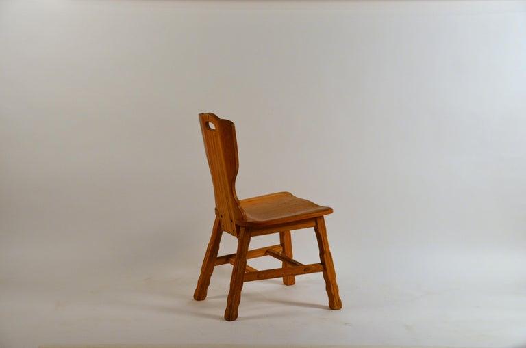 American Ranch Oak Side Chair by A. Brandt Co. For Sale