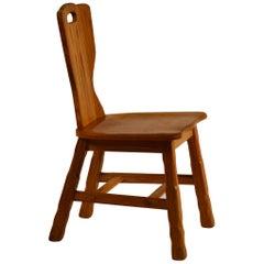 Ranch Oak Side Chair by A. Brandt Co.