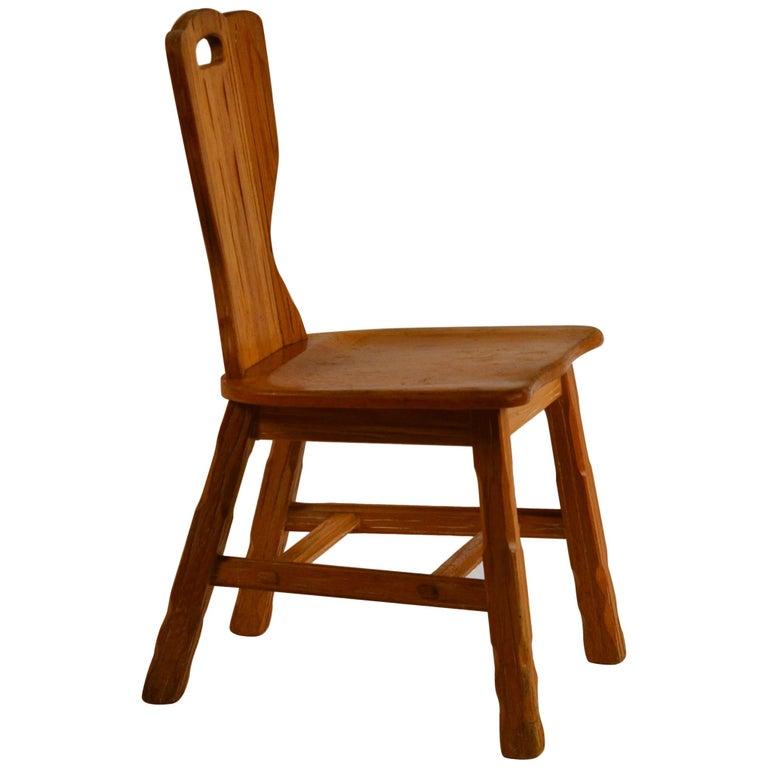 Ranch Oak Side Chair by A. Brandt Co. For Sale