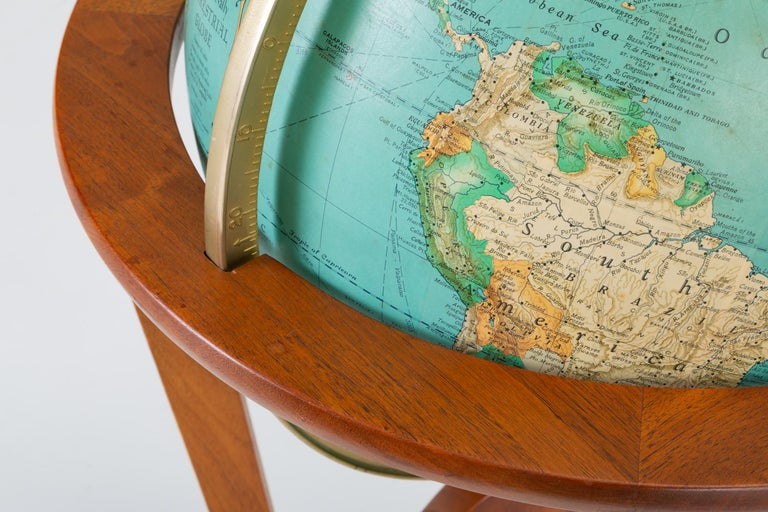 "Rand McNally ""Cosmopolitan"" Globe with Stand by Edward Wormley For Sale 5"