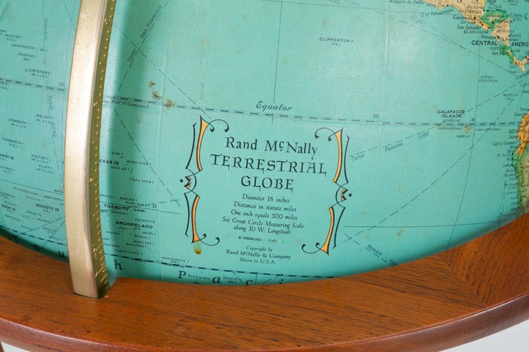 "Rand McNally ""Cosmopolitan"" Globe with Stand by Edward Wormley For Sale 6"