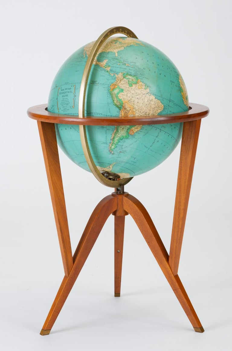 "Mid-Century Modern Rand McNally ""Cosmopolitan"" Globe with Stand by Edward Wormley For Sale"