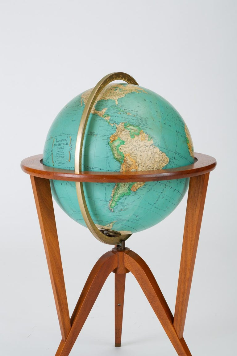"Late 20th Century Rand McNally ""Cosmopolitan"" Globe with Stand by Edward Wormley For Sale"