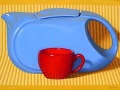 """Long and Blue"", Randall Browning, Pop Art Still-life, 30x40 in., Original Oil"