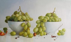 Two Bowls With Grapes