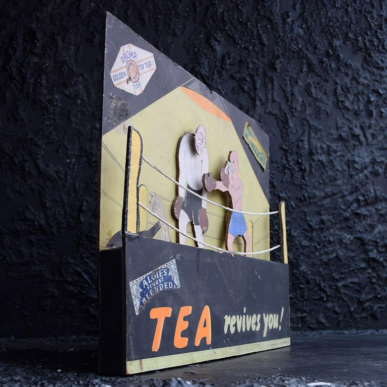Randell Page Scratch-Built Tea Advertising Automaton, circa 1940 For Sale 1