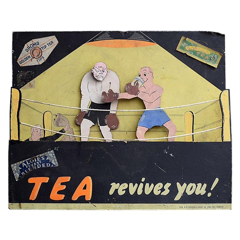 Randell Page Scratch-Built Tea Advertising Automaton, circa 1940 For Sale