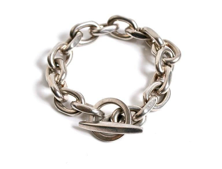 Women's Randers Denmark Sterling Silver Heavy Chain Bracelet For Sale