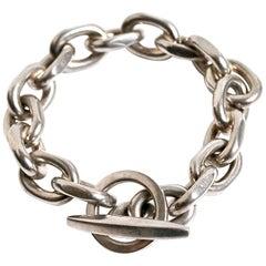 Randers Denmark Sterling Silver Heavy Chain Bracelet
