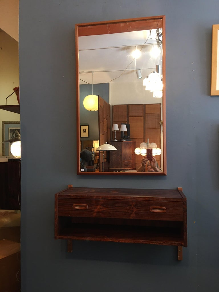 Mid-20th Century Randers Made in Denmark Rosewood Hanging Console For Sale