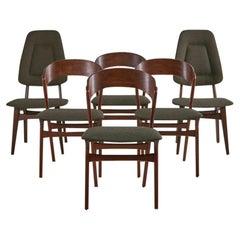 Randers Møbelfabrik Rosewood Dining Chairs, Set of 6 Danish