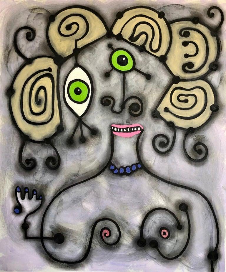 Randi Grantham Abstract Painting - Dirty Blonde