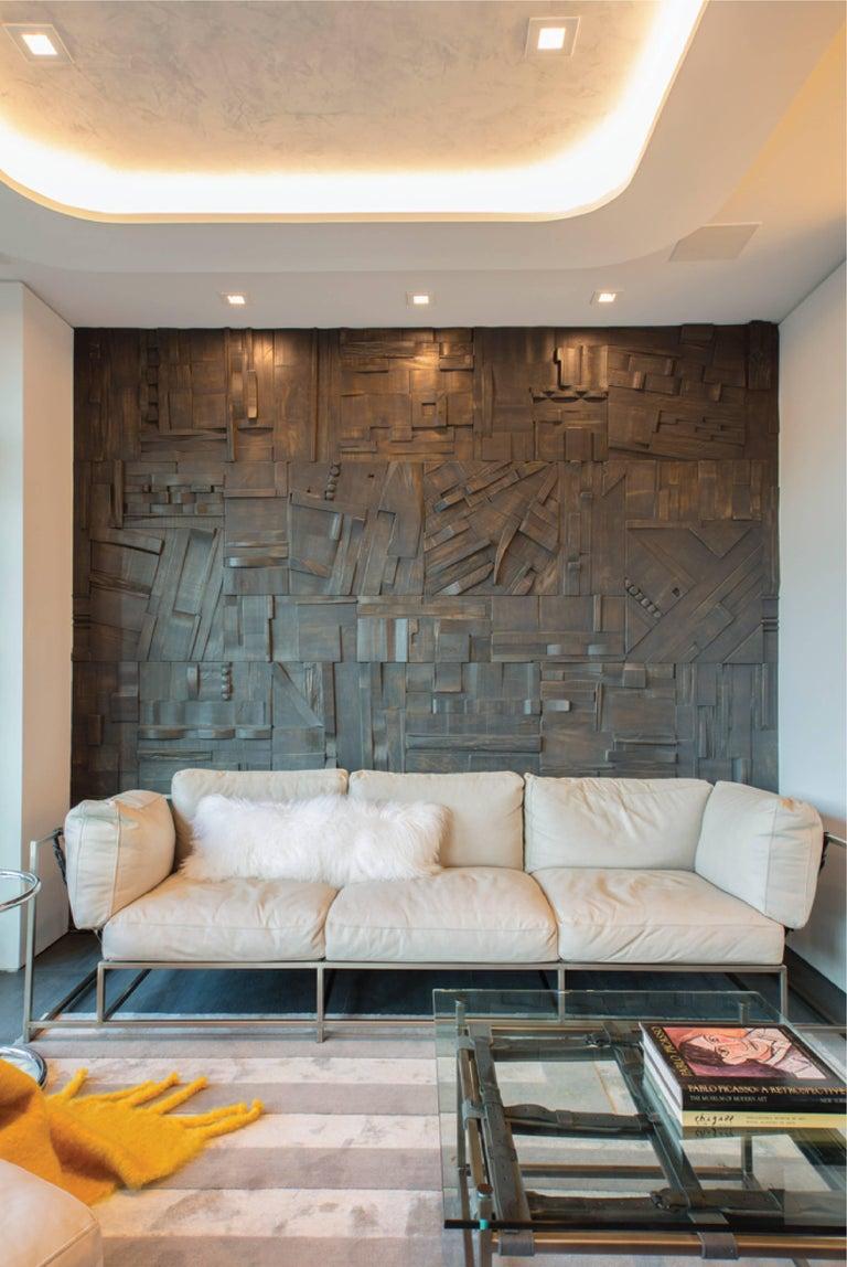 Zufällige Collage Panels, Funktionelle Kunst für die Wand aus Recyceltem Holz 2